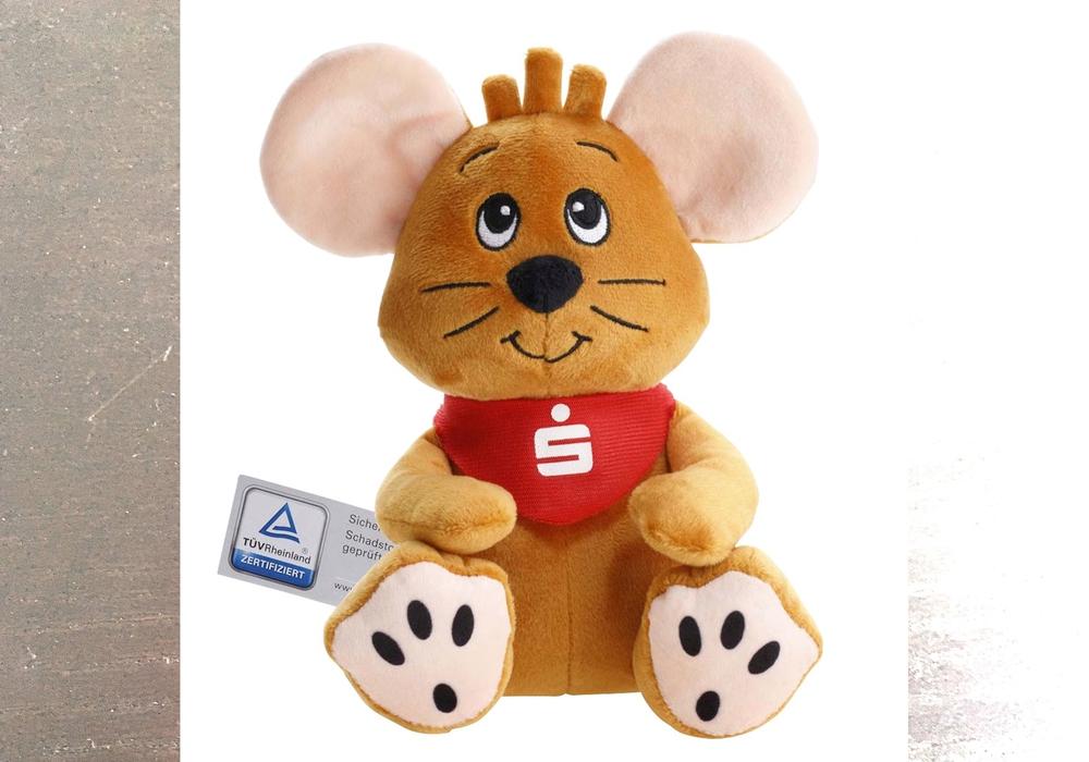 Freddy, die freche Maus, wartet auf die fleißigen Sparerinnen und Sparer.