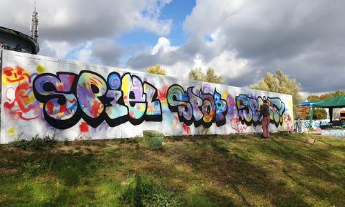Auch Graffiti stand auf dem Programm.