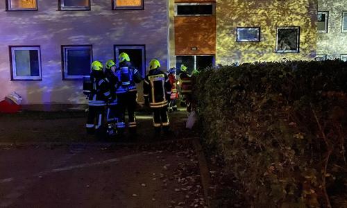 Kurz darauf musste die Feuerwehr im Siemensweg anrücken.