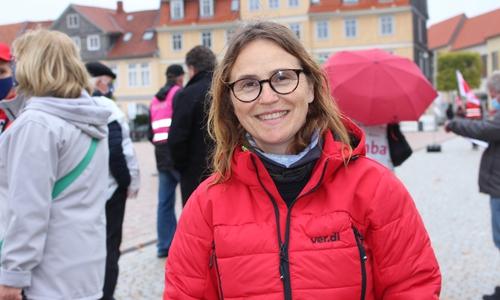 Corinna Jahr von ver.di Braunschweig.