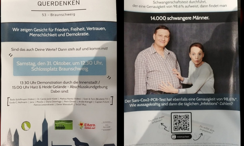 Dieser Flyer landete in einem Wolfenbütteler Briefkasten.
