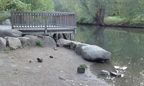 Die Steine am Ufer tauchten über Nacht auf - Unbekannte hatten sie offensichtlich am Ufer abgetragen. Obwohl die Stadt Braunschweig argumentierte, dass sie der Uferbefestigung dienen, sehe man keinen Handlungsbedarf.