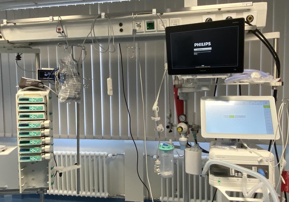So sieht die Technik in der neuen Intensivstation aus.