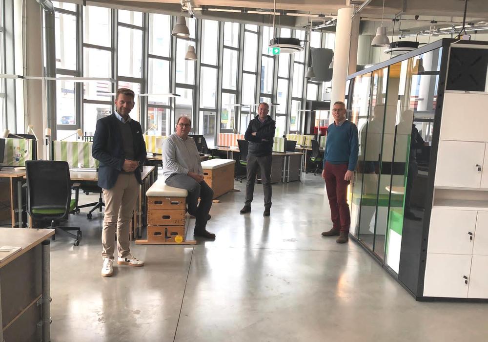 Dennis Weilmann, Christian Cordes, Stefan Muhle und Dr. Ralf Brunken.