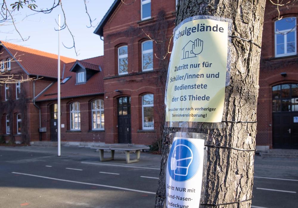 Die Grundschule Thiede bietet bis zum 1. Dezember nur noch Notbetreuung an.