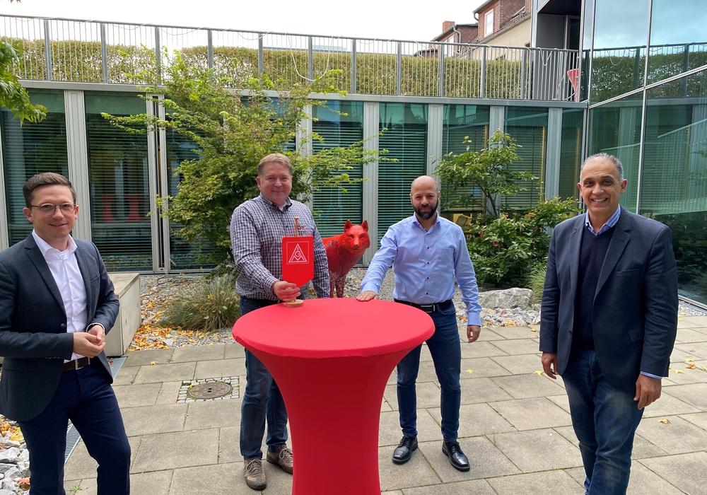 Von links: Falko Mohrs, Matthias Disterheft, Christian Matzedda und Flavio Benites.