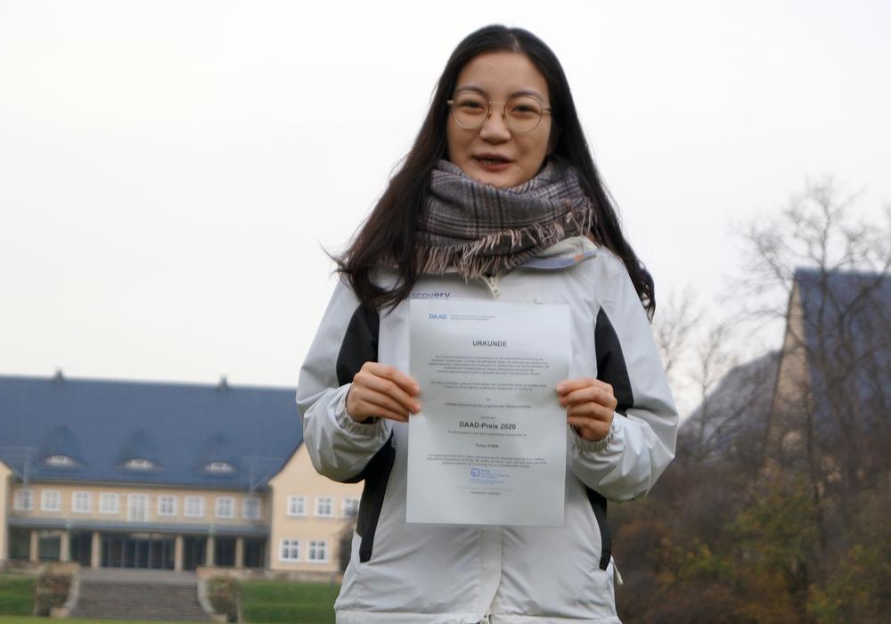 Yunyu Chen wurde mit dem DAAD-Preis ausgezeichnet.