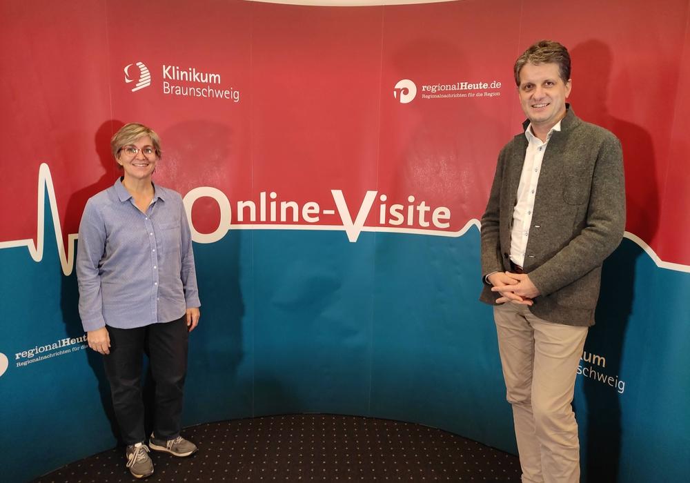Anke Belle und Dr. Jost Wigand Richter waren zu Gast in der Online-Visite.