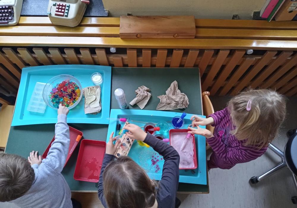 """Der Barmker Kindergarten """"Butterblume"""" wurde vom """"Haus der kleinen Forscher"""" ausgezeichnet."""