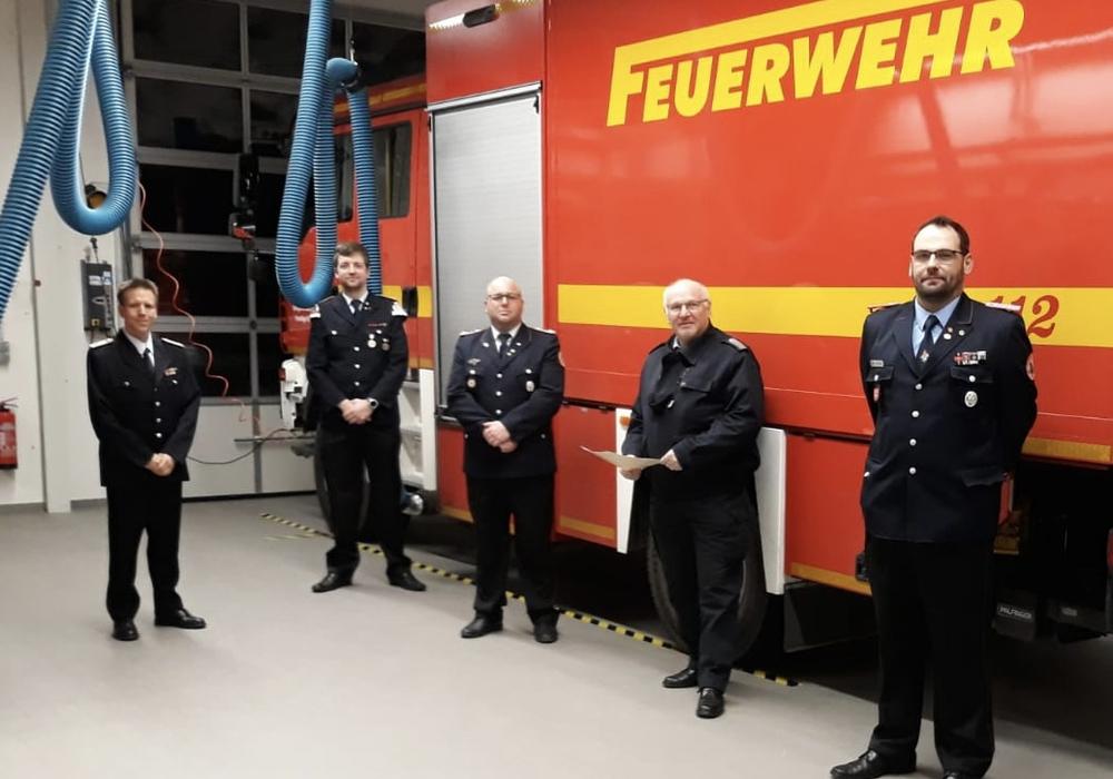 Patrick Heinemann, Johannes Zötzsche, Sven Breuer, Hans-Friedrich Thiemann und Philipp Hoffmeyer (v. li.).