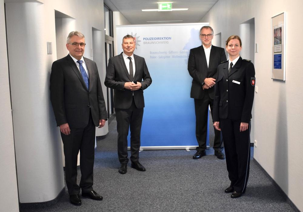 Bernhard Bergmann, Michael Pientka, Volker Warnecke, Christin Bartels (v. li.).