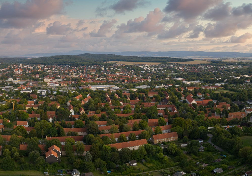 Panoramabild der Ost-und Westsiedlung in Salzgitter-Bad. Hier soll mit Mitteln des Integrationsfonds eine neue Kita entstehen.