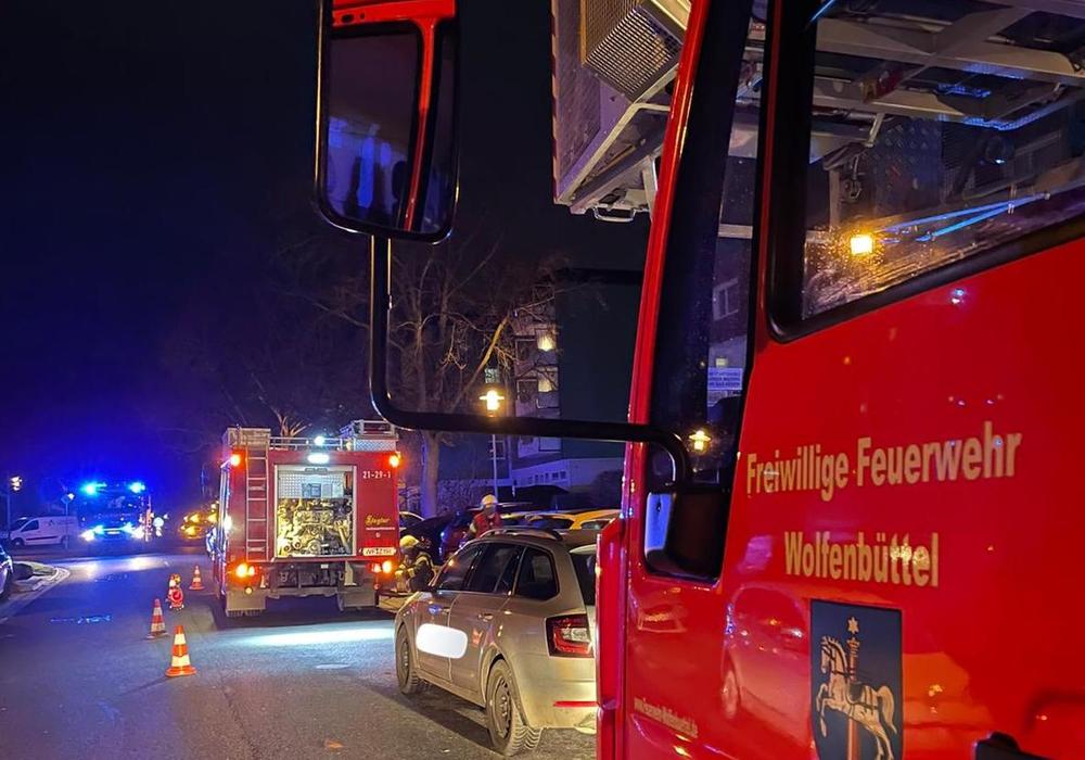 Die Feuerwehr wurde zu einem Einsatz in die Ernst-Moritz-Arndt-Straße gerufen