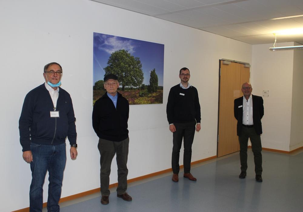 Trafen sich zur Verabschiedung (von links): Bernward Steinkraus, Bernward Heldt, Geschäftsführer Sebastian von der Haar, Uwe Klöppner.