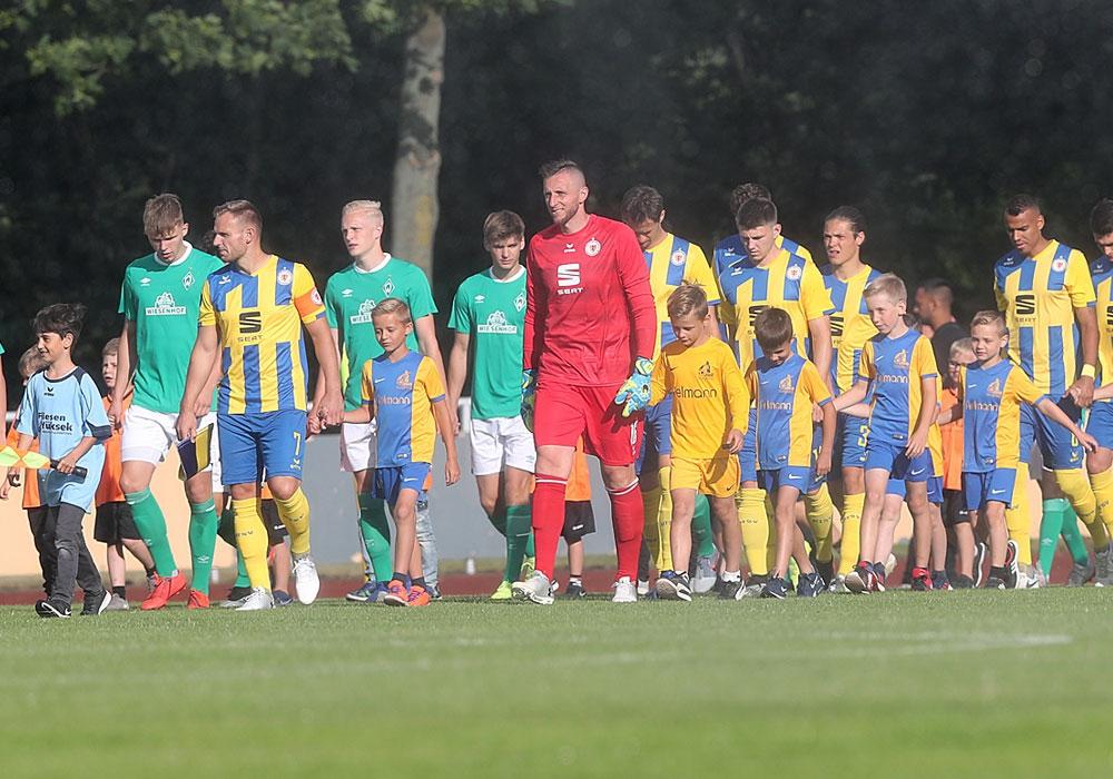 Das Testspiel gegen Lüneburg wird nachgeholt.