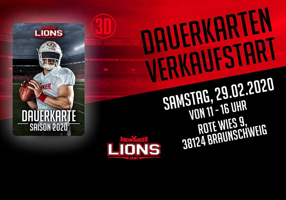Der Spielplan steht! Die New Yorker Lions gehen am 29. Februar in den Dauerkartenverkauf.