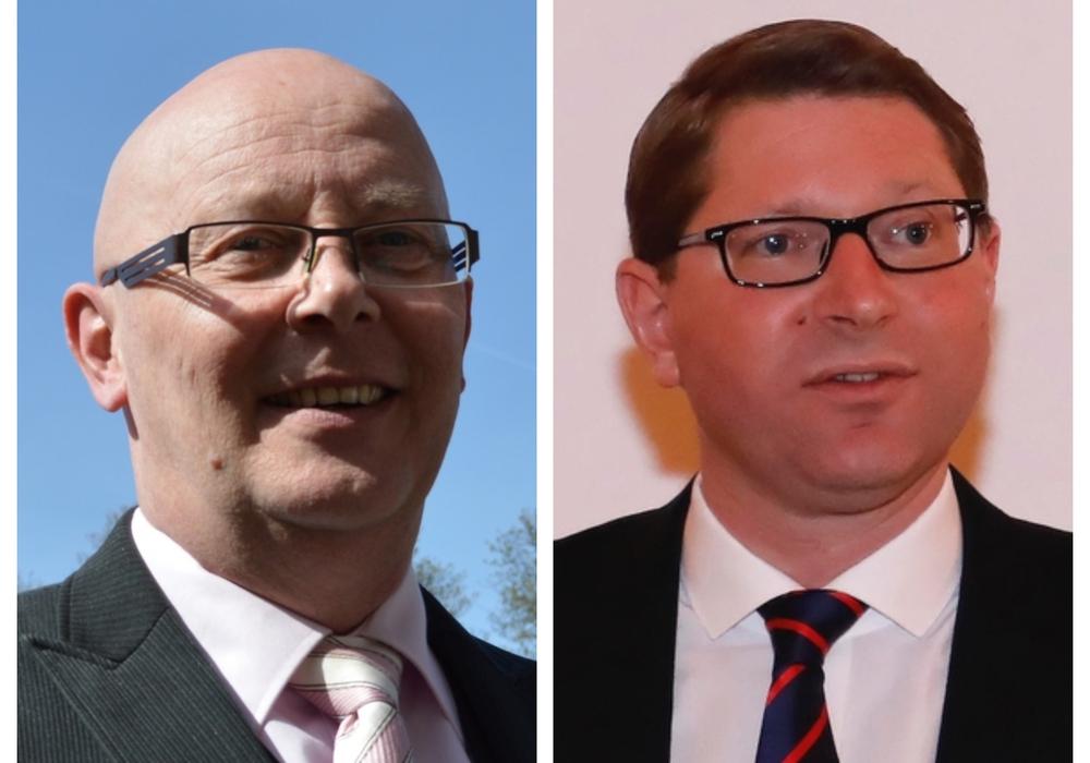 Die beiden Kandidaten für das Amt des Bürgermeisters der Samtgemeinde Sickte: Reiner Liborius und Marco Kelb.