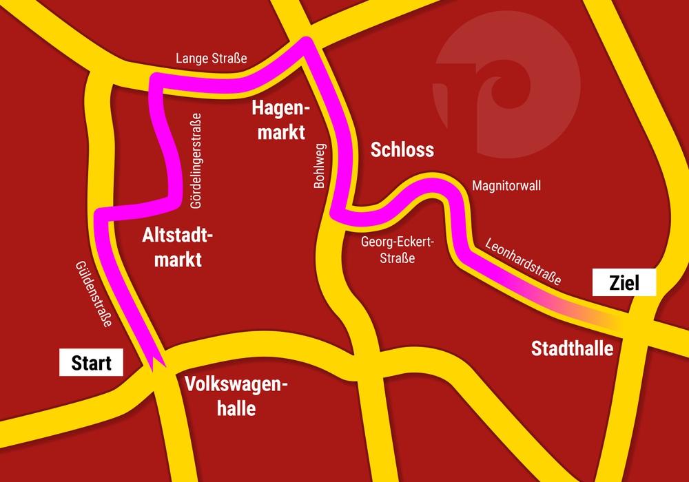 So verläuft der Braunschweiger Karnevalsumzug.
