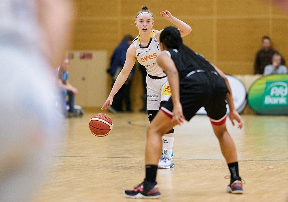 Melody Haertle verletzte sich beim Spiel gegen Chemnitz schwer am Knie.