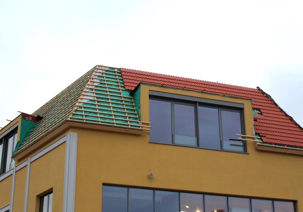 Der Ausbau des Daches des Löwentors ist ins Stocken geraten.
