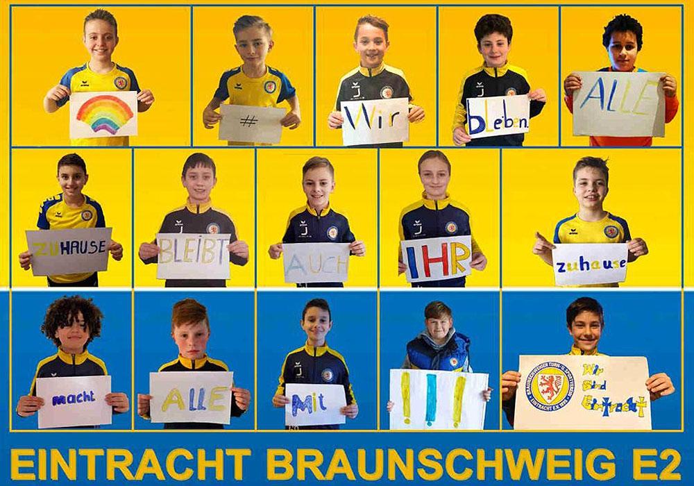 Die E2 von Eintracht Braunschweig möchte ein starkes Zeichen setzen.