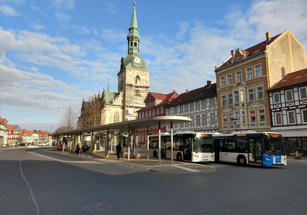 Der Kornmarkt wird zentraler Bus-Umstiegspunkt.
