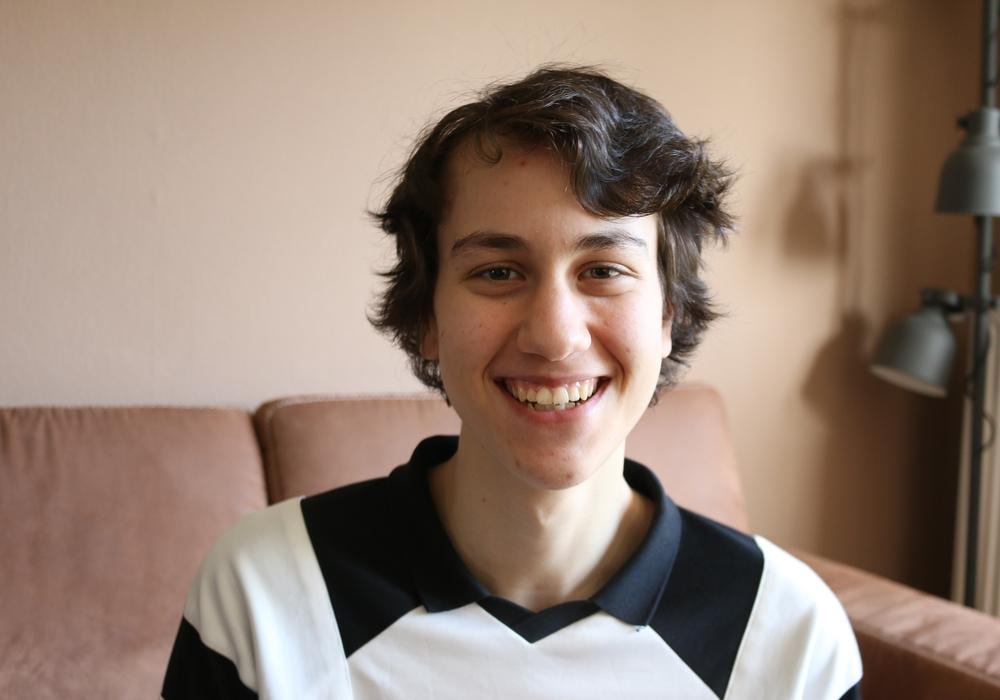 Der italienische Austauschschüler Mattia Camattari.