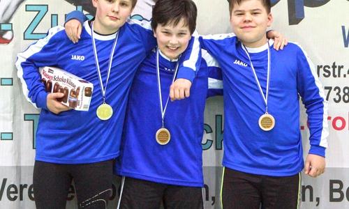 Gregor Roller, Konrad Adams und Anton Lönnig freuten sich über den 3. Platz in der männlichen U12.
