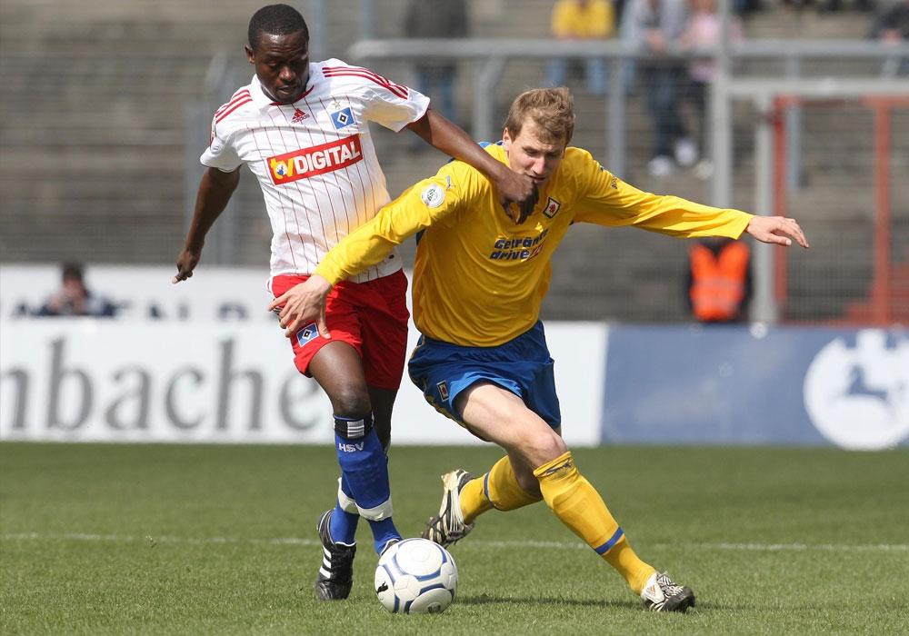 Fabian Bröcker bei einem seiner vier Einsätze für die Löwen, hier gegen seinen Ex-Verein.