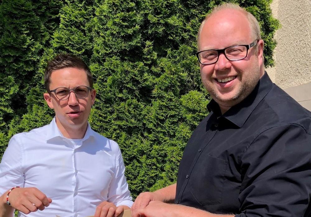 Falko Mohrs (links) und Jörn Domeier sorgen sich um die Fördergelder für den Landkreis Helmstedt.