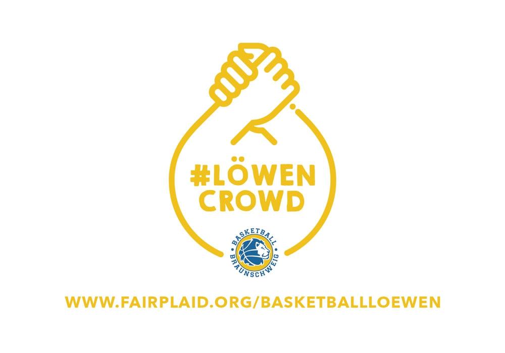 Unter dem Motto #LÖWENCROWD starten die Basketball Löwen eine Crowdfunding-Aktion.