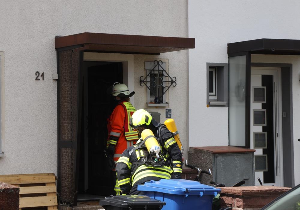 Das Nachbarhaus wurde nicht durch das Feuer beschädigt.