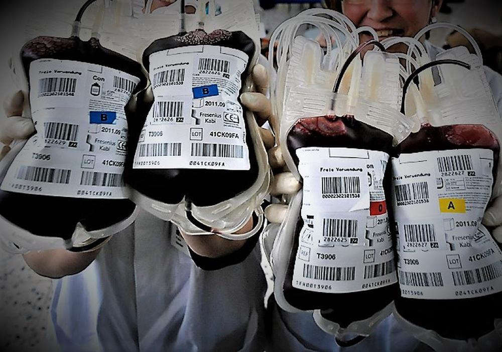 Dringend benötigte Blutkonserven.