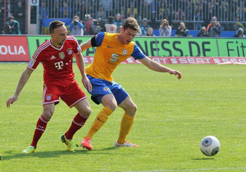 Auch ein Franck Ribery traf gelegentlich auf echte Legenden.