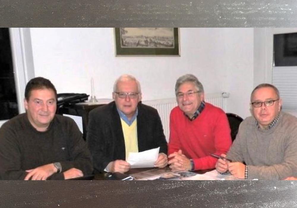 Vertreter des CDA-Kreis - und Landesvorstandes mit (v. l.) Uwe Lagosky, Klaus Hantelmann, Herbert Theissen (Vorsitzender) und Andreas Meißler setzen sich für die Grundrente ein. (Aufnahme 2019).
