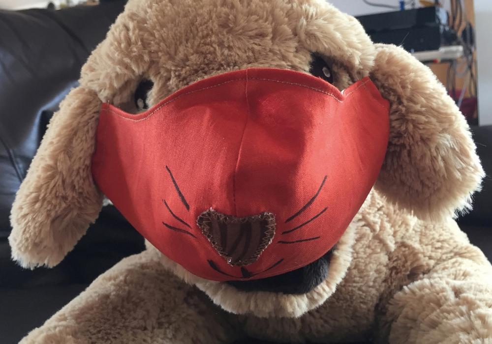 Der Gewinner-Entwurf der kreativsten Maske aus Peine.