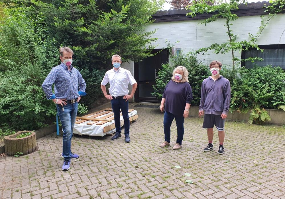 Von links: Thorsten Vogel, Reinhold Bißlich, Karin Sternberg- Heidenpeter, Arne Runau.