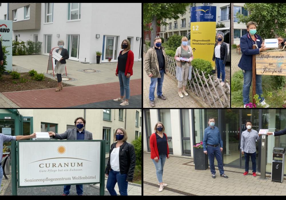 Der SPD-Stadtverband spendete Tablets an Wolfenbütteler Altenpflegeeinrichtungen.