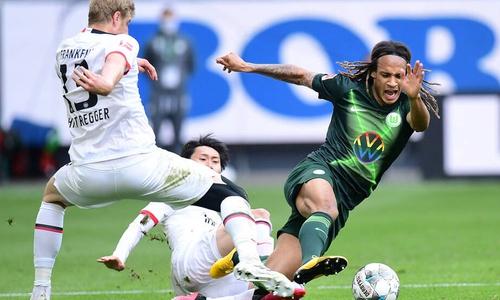Harte Gangart: Kevin Mbabu erzielte das einzige Wolfsburger Tor.