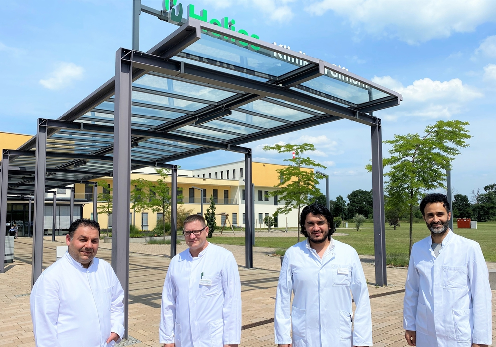 Oberarzt Wail Bendala, Chefarzt Dr. Ralf Dörre, Oberarzt Mohamed El Haddad und Oberarzt Dr. med. Ssuheib Schado (links nach rechts).