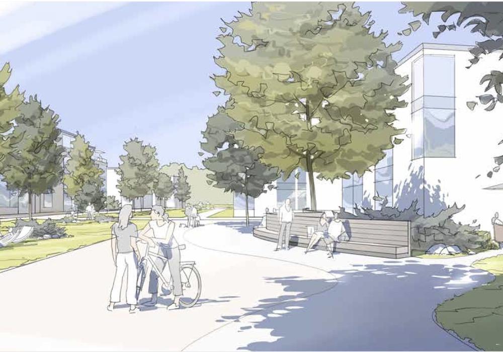 Das geplante Wohnquartier könnte so aussehen. Entwurf.