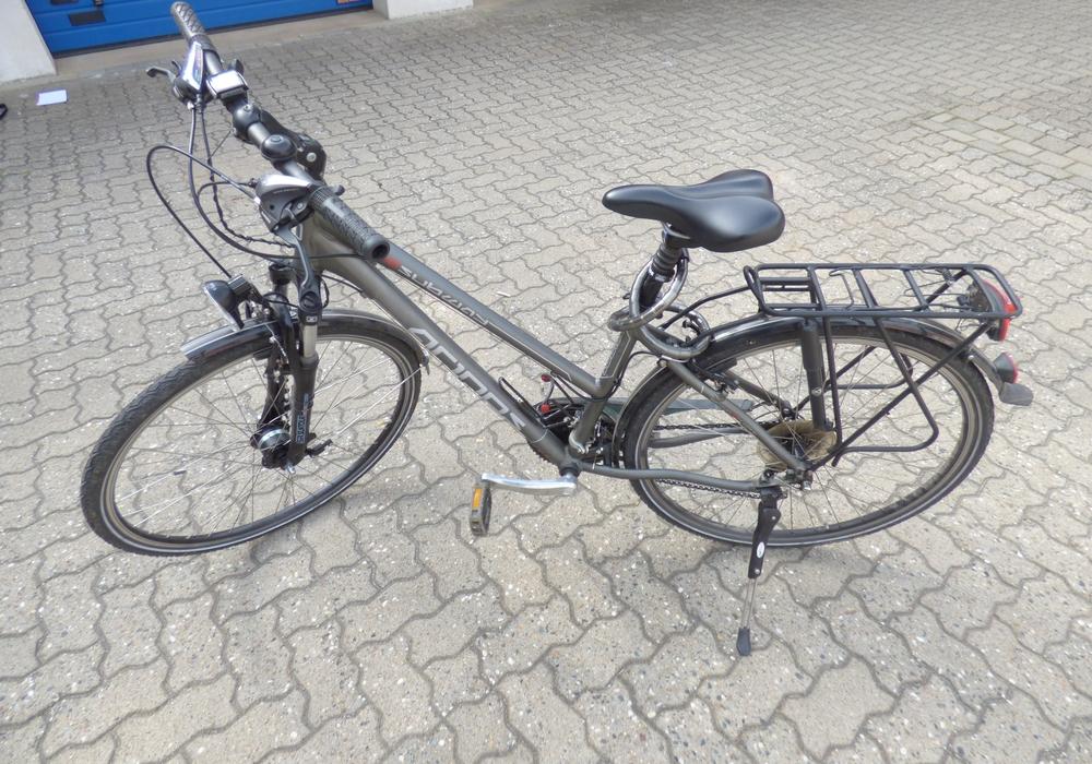 Das sichergestellte Fahrrad.