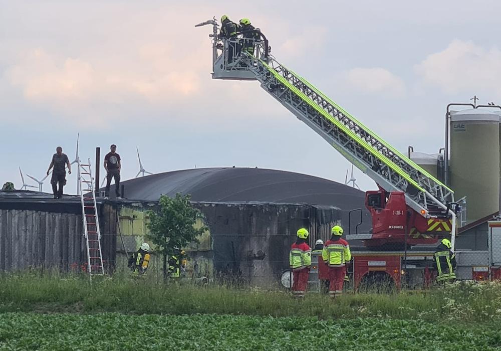 Die Feuerwehr hatte den Brand schnell im Griff.