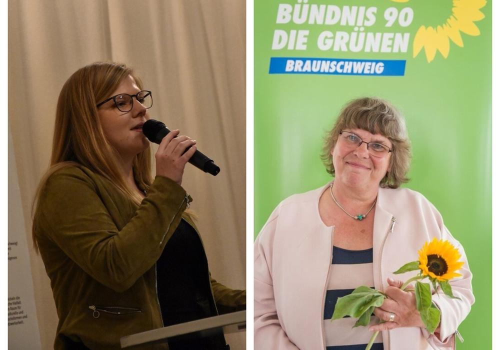 Lena Krause (links) und Elke Flake von den Grünen.