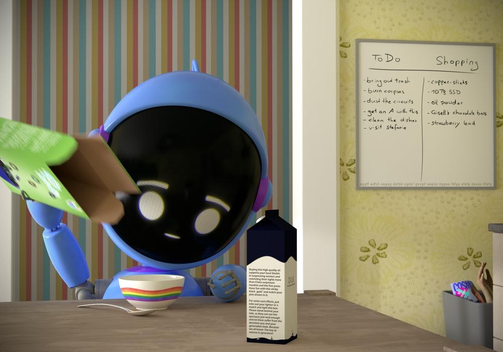 "Danny Seggelke präsentiert seinen 3D-Animationsfilm ""Enjoy your Breakfast!"""