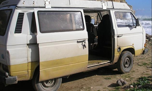 Das BKA bittet außerdem um Hinweise und Sichtungen dieses VW-Transporters.