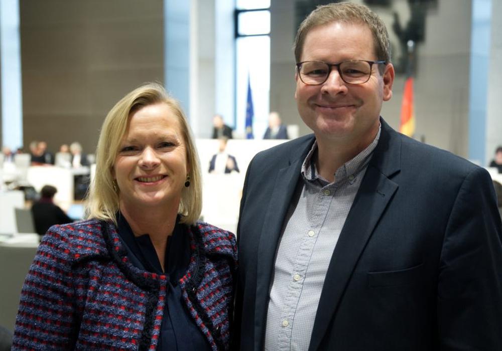 Die Landtagsabgeordneten Dunja Kreiser und Marcus Bosse (Beide SPD) (Archivbild)