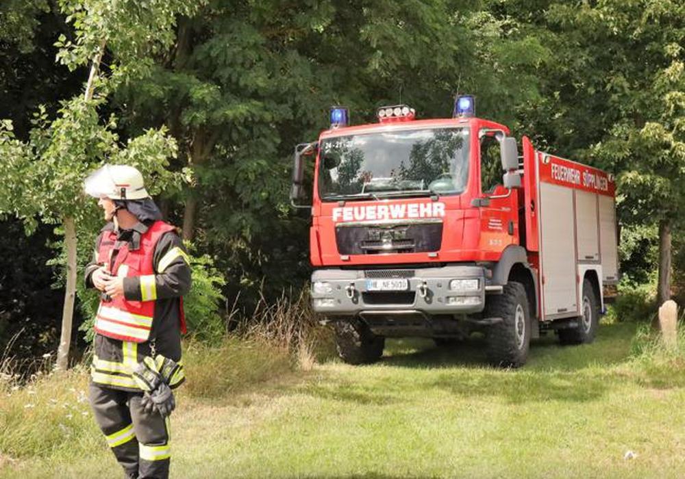 In einem Waldstück bei Süpplingenburg wurde ein Lagerfeuer gelöscht.