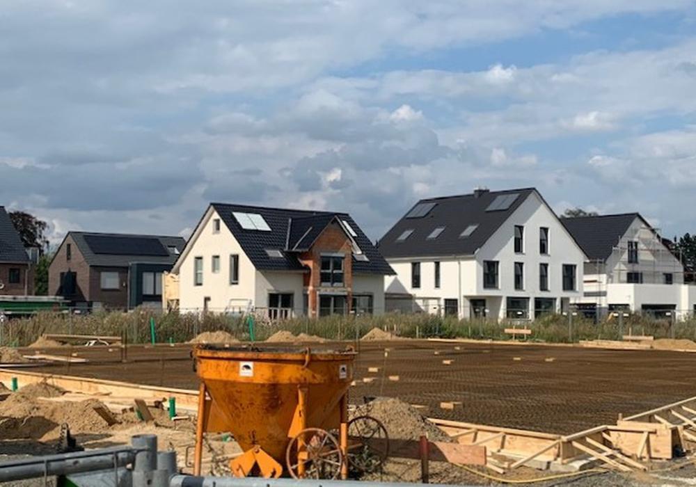 Die Bodenplatte für die neue Kita Stöckheim-Süd ist schon zu sehen. Betreiben wird den Standort die Lebenshilfe Braunschweig.