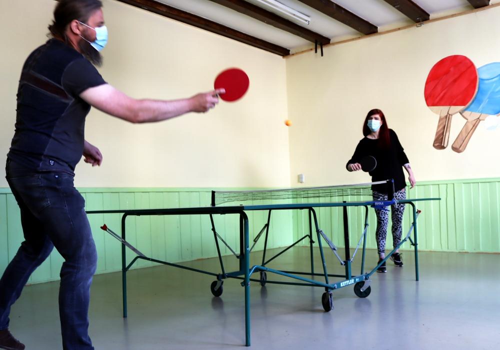 Es kann wieder Tischtennis gespielt werden.